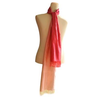 Ombré silk shawl