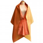 Double sided ladies silk shawl